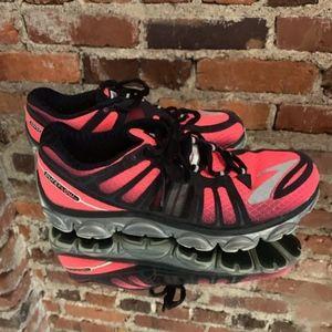 Brooks Running Shoes 8.5 Pureflow II Pink Black